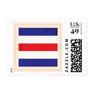 """Bandera de señal náutica de la letra """"C"""" Timbre Postal"""