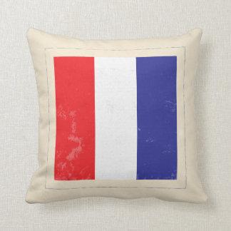 """Bandera de señal náutica de la letra """"T"""" Cojín Decorativo"""