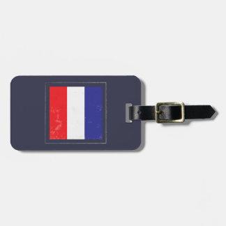 """Bandera de señal náutica de la letra """"T"""" Etiquetas Para Maletas"""