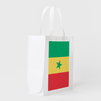 Bandera de Senegal Bolsas Reutilizables