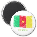 Bandera de Senegal del Grunge Iman De Nevera
