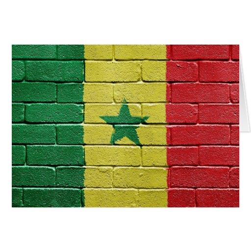 Bandera de Senegal Tarjeta De Felicitación
