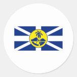 Bandera de señor Howe Island Pegatina Redonda