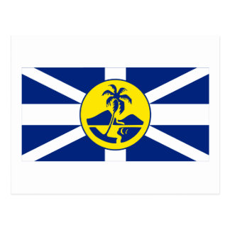 Bandera de señor Howe Island Tarjeta Postal
