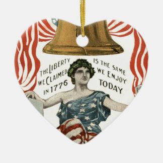 Bandera de señora Liberty Bell los E.E.U.U. el 4 d Adorno Para Reyes