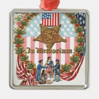 Bandera de señora Liberty los E.E.U.U. de la guirn Adornos