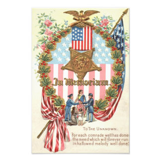 Bandera de señora Liberty los E E U U de la guirn Impresion Fotografica