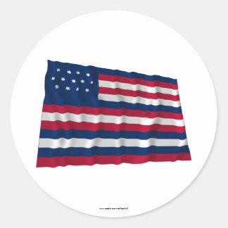 Bandera de Serapis Pegatina Redonda