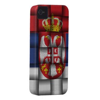 Bandera de Serbia Case-Mate iPhone 4 Funda
