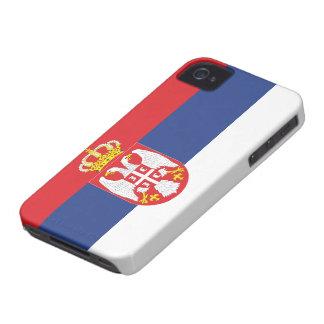 Bandera de Serbia Case-Mate iPhone 4 Fundas