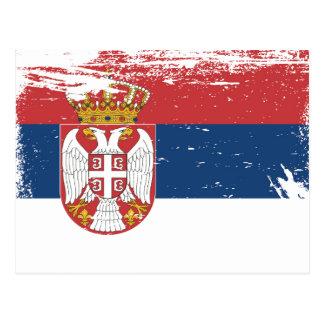 Bandera de Serbia del Grunge Postales