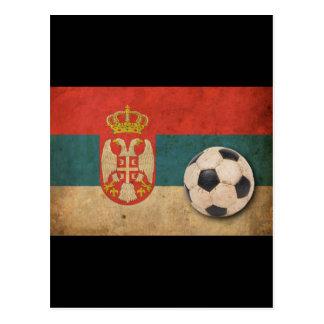 Bandera de Serbia del vintage Postal