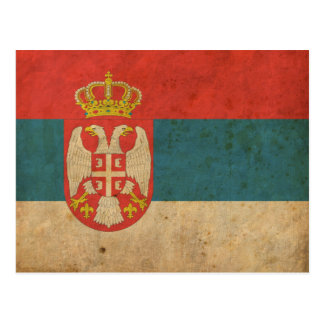 Bandera de Serbia del vintage Postales