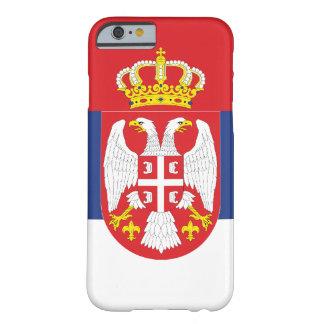 Bandera de Serbia Funda Para iPhone 6 Barely There