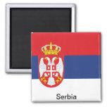Bandera de Serbia Iman Para Frigorífico