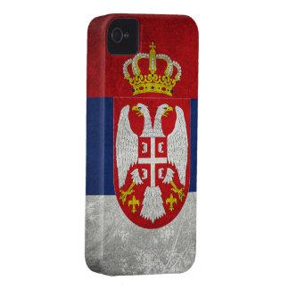 Bandera de Serbia iPhone 4 Cárcasa