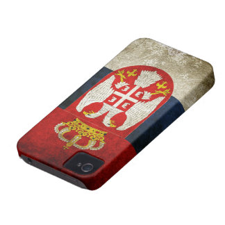 Bandera de Serbia iPhone 4 Cárcasas
