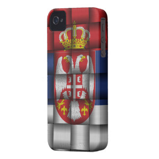 Bandera de Serbia iPhone 4 Case-Mate Cobertura
