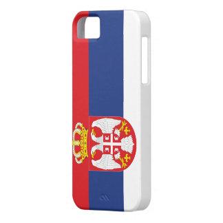Bandera de Serbia iPhone 5 Carcasas