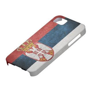 Bandera de Serbia iPhone 5 Funda