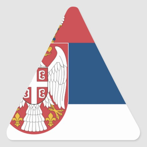Bandera de Serbia Pegatina Triangular