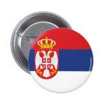 Bandera de Serbia Pin Redondo 5 Cm