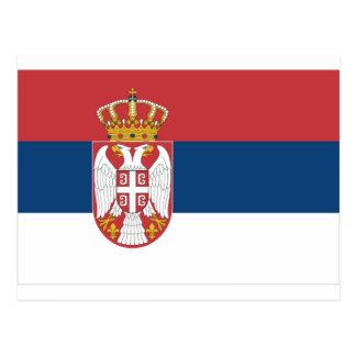 Bandera de Serbia Postales