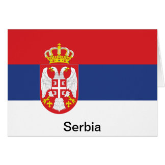Bandera de Serbia Tarjeta De Felicitación