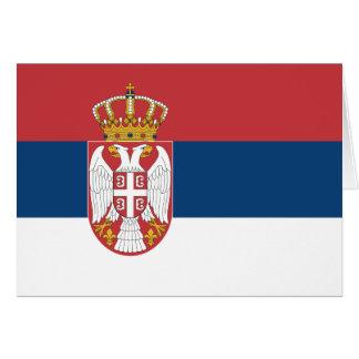 Bandera de Serbia Tarjeta Pequeña
