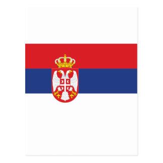 Bandera de Serbia Tarjeta Postal