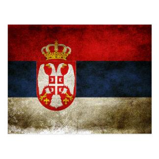 Bandera de Serbia Tarjetas Postales