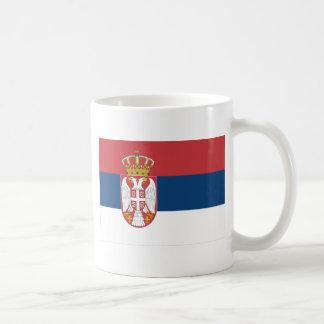 Bandera de Serbia Taza Básica Blanca