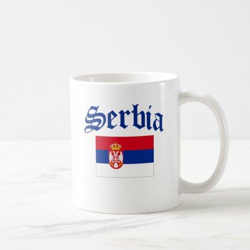 Bandera de Serbia Taza De Café