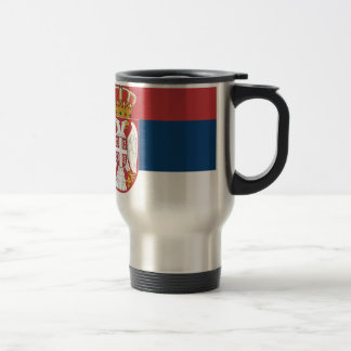 Bandera de Serbia Taza De Viaje De Acero Inoxidable