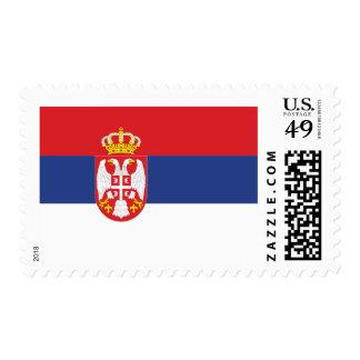 Bandera de Serbia Timbre Postal