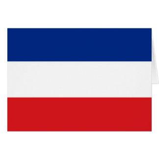 Bandera de Serbia y de Montenegro Tarjeta De Felicitación