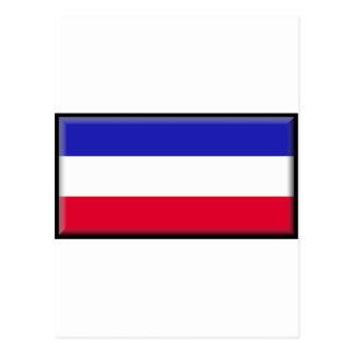 Bandera de Serbia y de Montenegro Tarjetas Postales