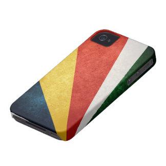 Bandera de Seychelles iPhone 4 Case-Mate Protectores