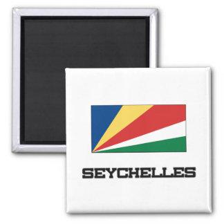 Bandera de Seychelles Imán Cuadrado