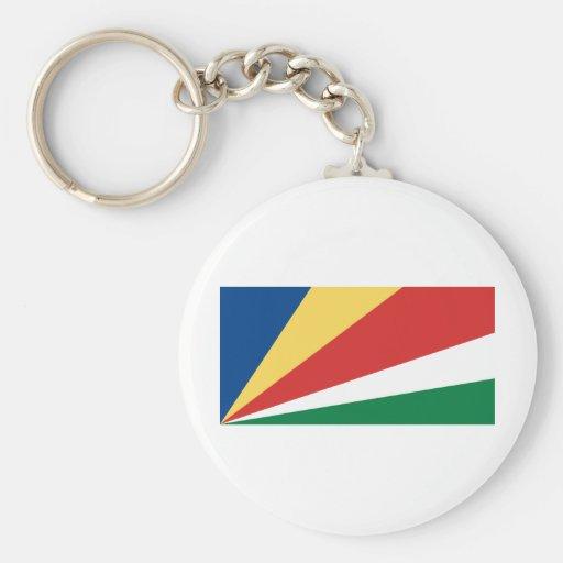 Bandera de Seychelles Llavero Redondo Tipo Pin