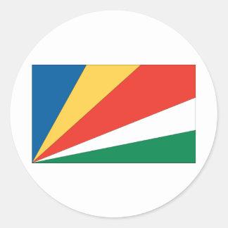 Bandera de Seychelles Pegatina Redonda