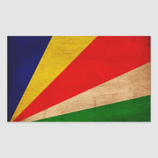 Bandera de Seychelles Pegatina Rectangular