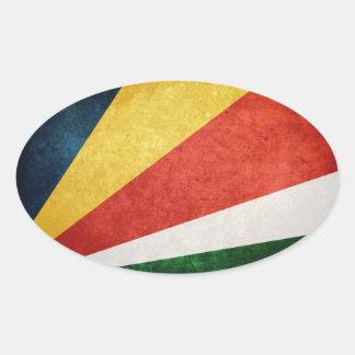 Bandera de Seychelles Pegatina Ovalada