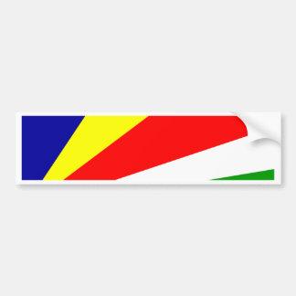 Bandera de Seychelles Pegatina Para Auto
