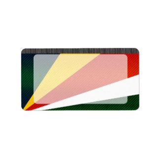 Bandera de Seychelles pelada moderna Etiquetas De Dirección