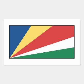Bandera de Seychelles persona de Seychelles Pegatina Rectangular