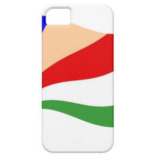 Bandera de Seychelles que agita iPhone 5 Case-Mate Carcasas