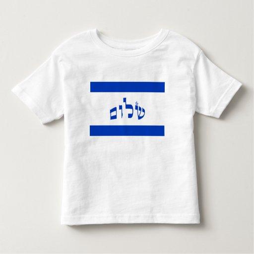 Bandera de Shalom en hebreo Camisas