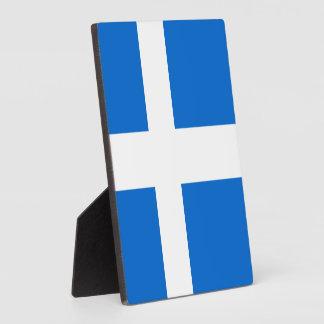 Bandera de Shetland Placas De Plastico