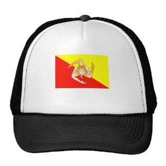Bandera de Sicilia Gorras